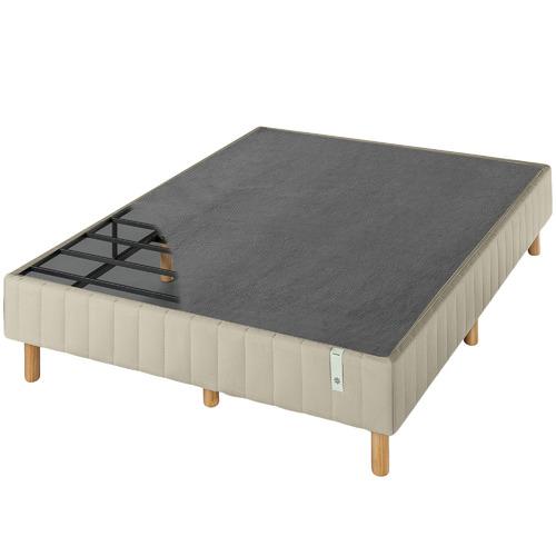 Beige Quick Snap Queen Bed Base