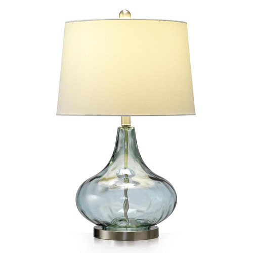 Temple & Webster Misty Blue Dew Drop Table Lamp