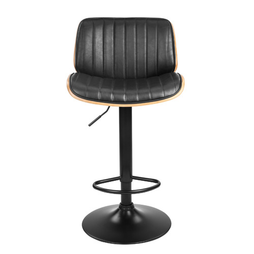 Temple & Webster Barcelona Adjustable Mid Back Barstool