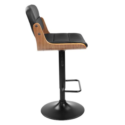 Temple & Webster Rocket Mid Back Adjustable Barstool