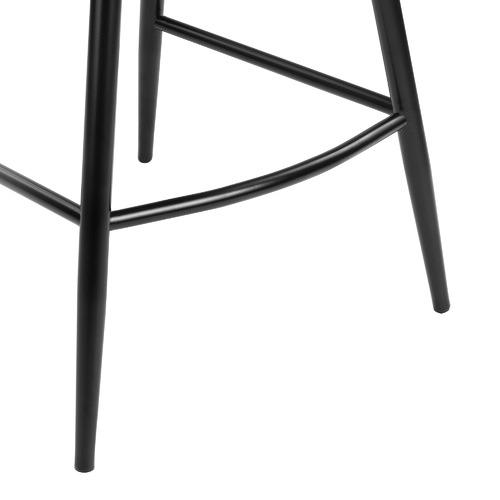 67cm Nappa Velvet High Back Barstools