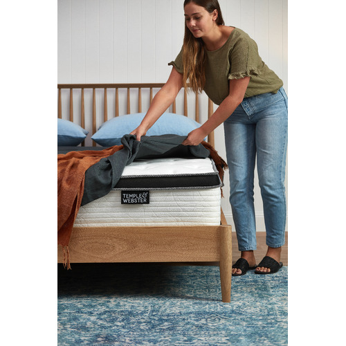 Temple & Webster Chiro Plush Euro Top Foam & Coil Mattress