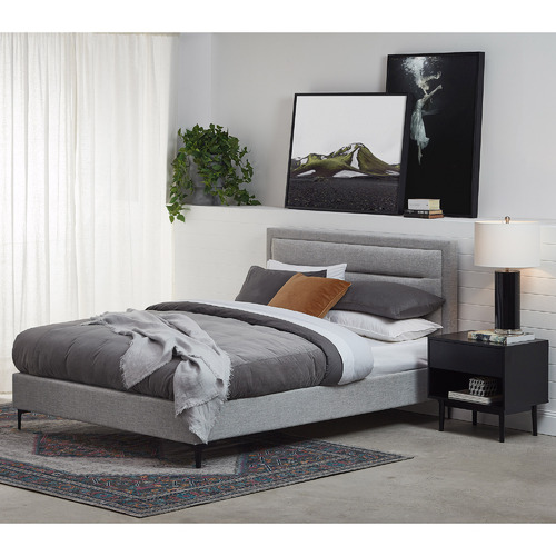 Temple & Webster Max Modern Upholstered Bed Frame