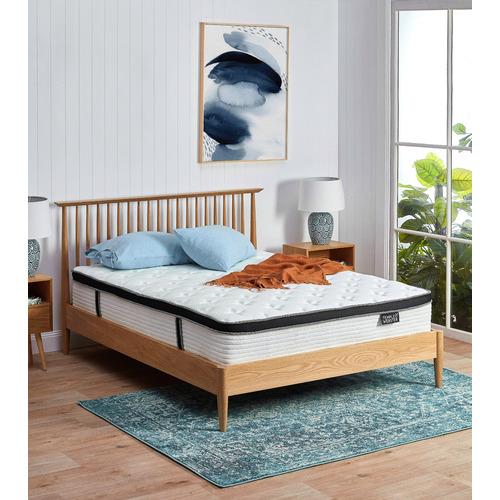 Temple & Webster Queen Olsen Oak Spindle Bed