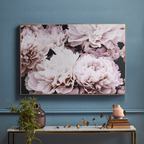 Temple & Webster Floral Blooms Framed Canvas Wall Art
