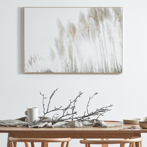 Sunshine Pampas Framed Canvas Wall Art