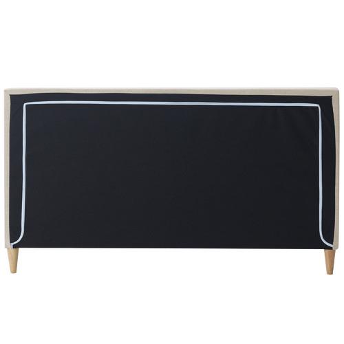 Beige Logan Upholstered Bed