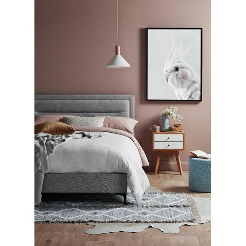 Temple & Webster Max Modern Upholstered Bed Frame
