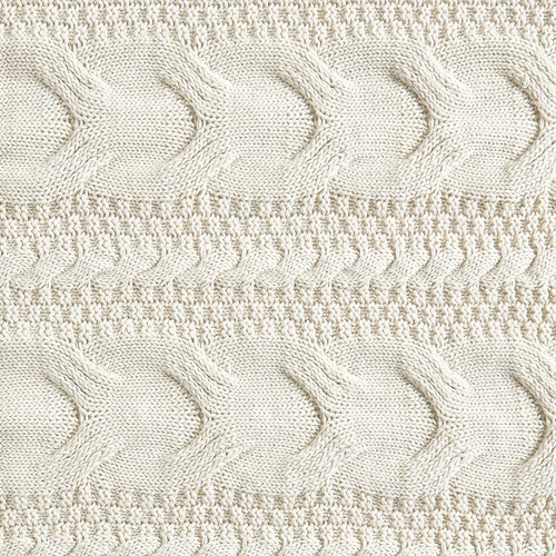 Askel Cable Knitted Cotton Throw