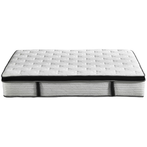 Temple & Webster Chiro Plush Euro Top Pocket Spring Mattress