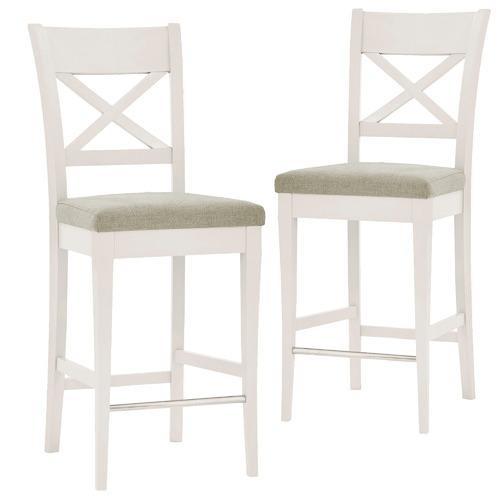 Miraculous Emilia French Provincial Cross Back Bar Stools Set Of 2 Dailytribune Chair Design For Home Dailytribuneorg