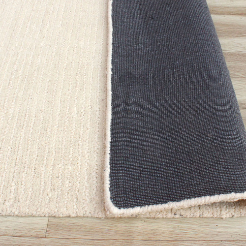 Temple & Webster Ivory Capri Hand-Woven Wool Rug