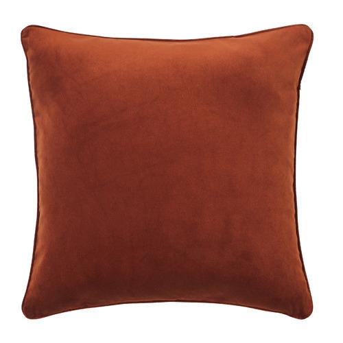 Temple & Webster Terracotta Malmo Soft Velvet Cushion