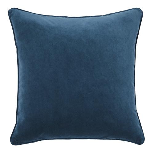 Temple & Webster Denim Malmo Soft Velvet Cushion
