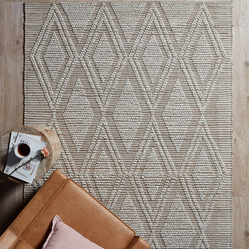 Temple & Webster Sol Hand-Woven Hemp & Wool Rug