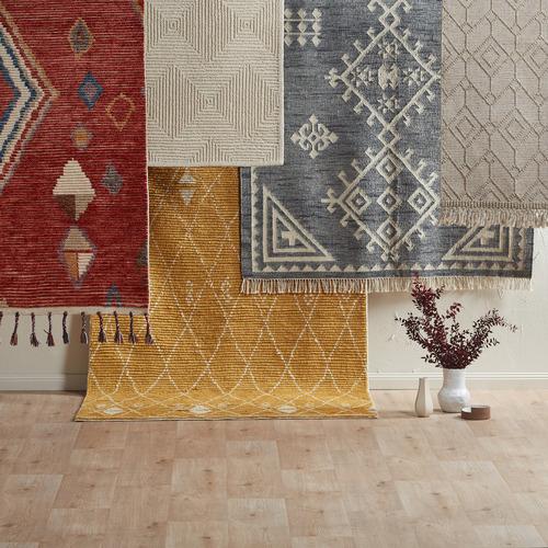 Temple & Webster Beige Terra Hand-Woven Wool Rug