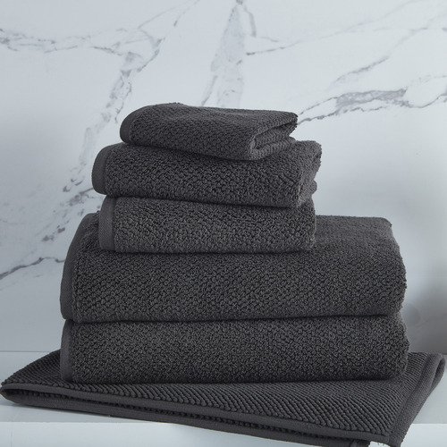 Temple & Webster Charcoal Willow 600GSM Turkish Cotton Towel Set