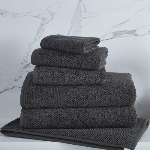 6 Piece Charcoal Willow 600GSM Turkish Cotton Towel Set