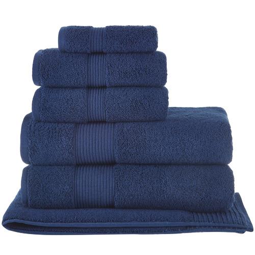 Temple & Webster 6 Piece Navy Grand 800GSM Turkish Cotton Towel Set