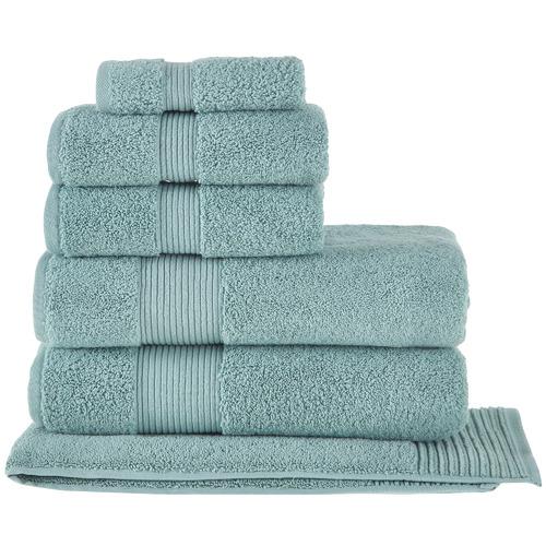 Temple & Webster 6 Piece Seafoam Grand 800GSM Turkish Cotton Towel Set