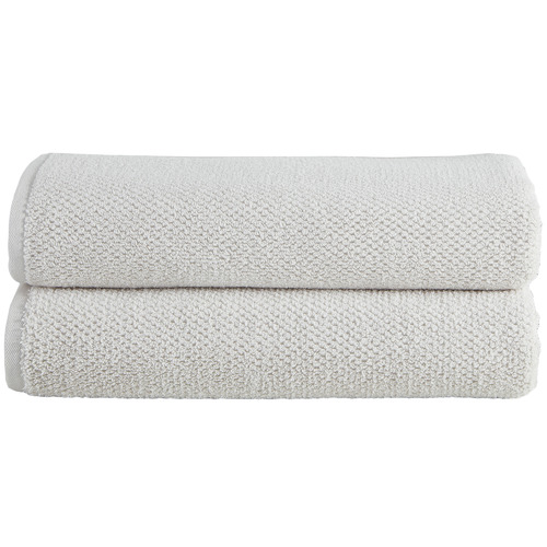 Temple & Webster Oatmeal Willow 600GSM Turkish Cotton Towel Set