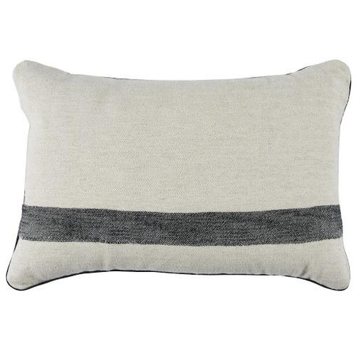 Temple & Webster Black Cotton-Linen Cushion