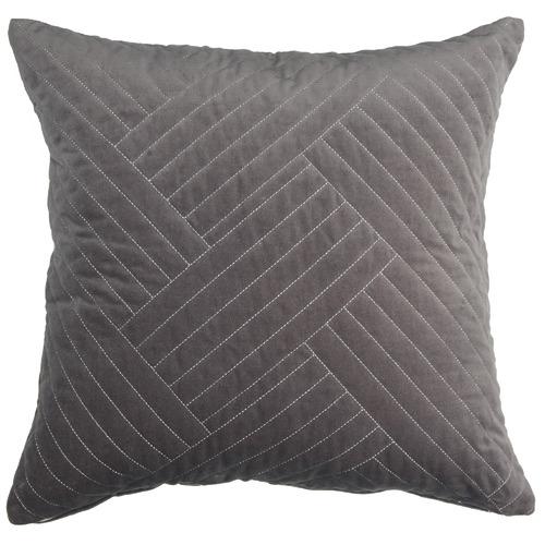 Temple & Webster Charcoal Abigail Cotton Velvet Cushion