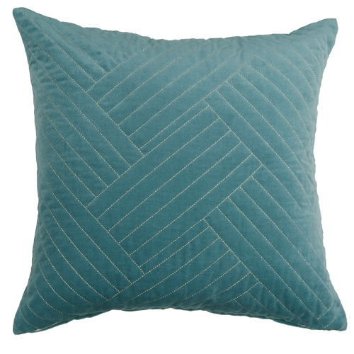 Temple & Webster Reef Abigail Cotton Velvet Cushion