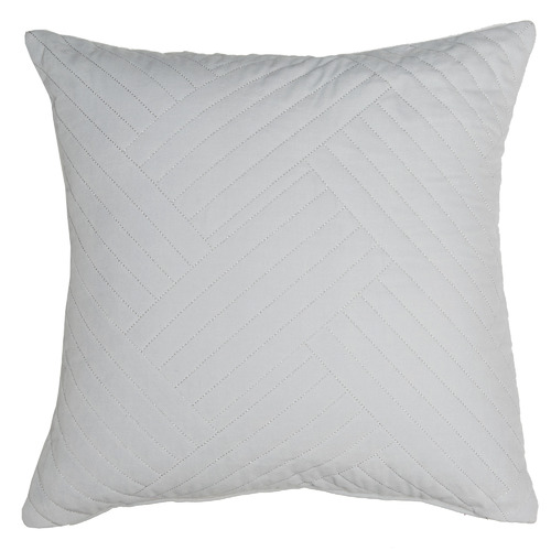 Temple & Webster Silver Abigail Cotton Velvet Cushion