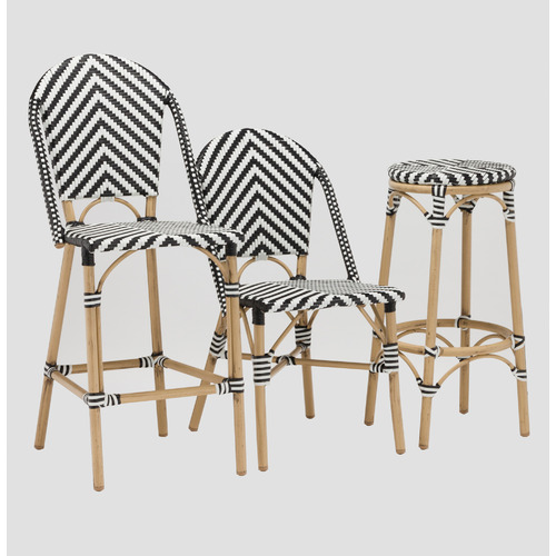 Temple & Webster Paris PE Rattan Cafe Barstool