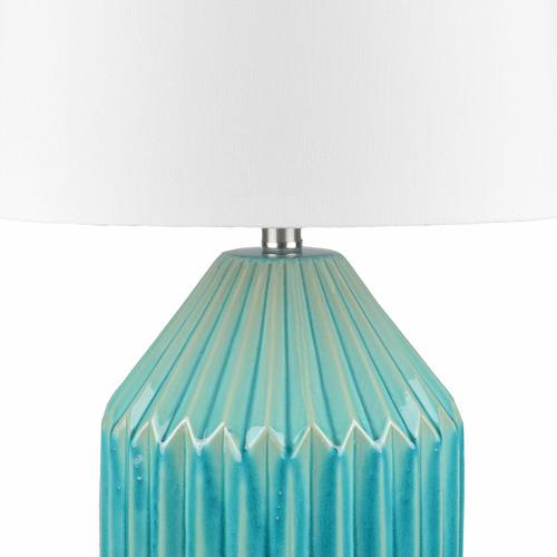 Temple & Webster Blue Glaze Nori Ceramic Table Lamp