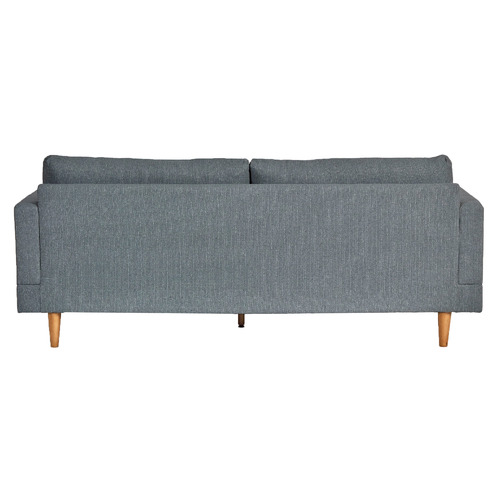 Temple & Webster Grey Silas 3 Seater Sofa