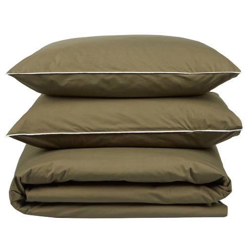 Olive Organic Cotton Quilt Cover Set