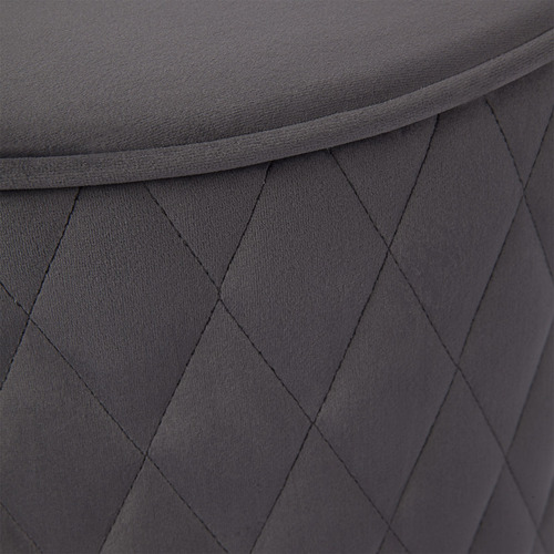 Temple & Webster Olivia Quilted Ottoman