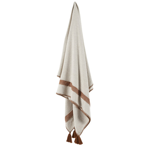 Temple & Webster Cinnamon Cotton-Linen Throw