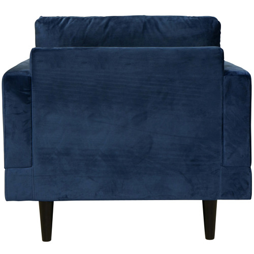 Temple & Webster Navy Silas Velvet Armchair