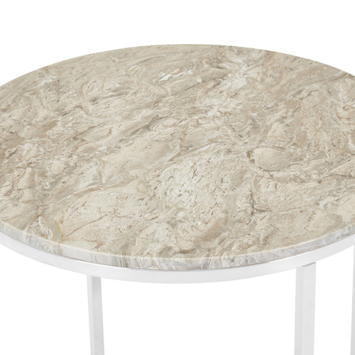 Temple & Webster Siena Round Marble Side Table