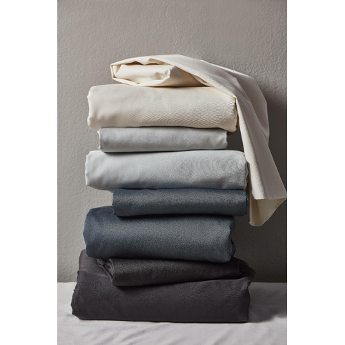 Temple & Webster Cream Bamboo & Cotton Sheet Set