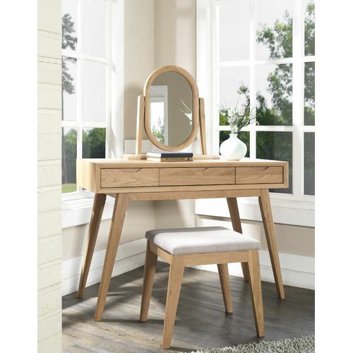 Temple & Webster 3 Piece Skov Natural Dressing Table Set