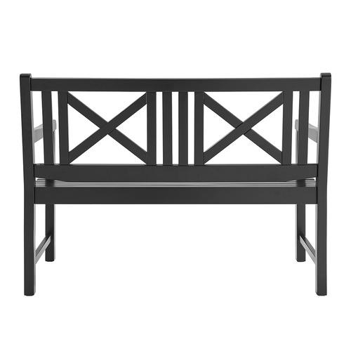 Temple & Webster Black Santa Cruz 2 Seater Acacia Wood Outdoor Bench