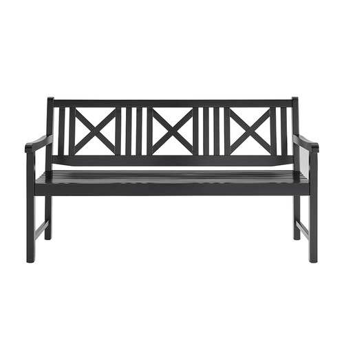 Temple & Webster Santa Cruz 3 Seater Outdoor Timber Bench