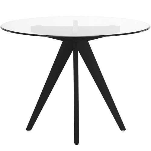 Temple & Webster 100cm Round Clear Top Dining Table