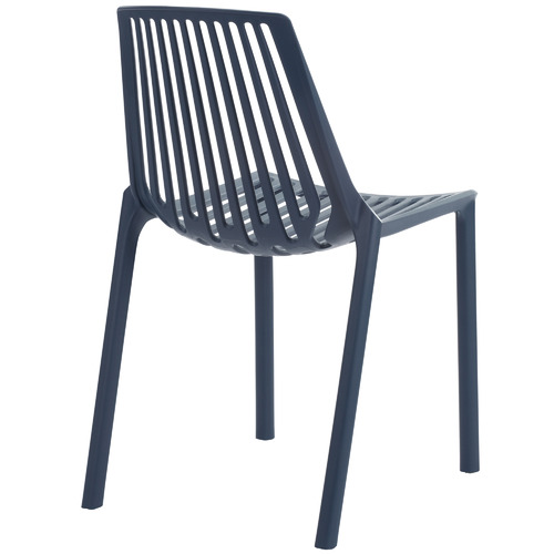 Temple & Webster Indigo Slouch UV-Stabilised Outdoor Dining Chairs