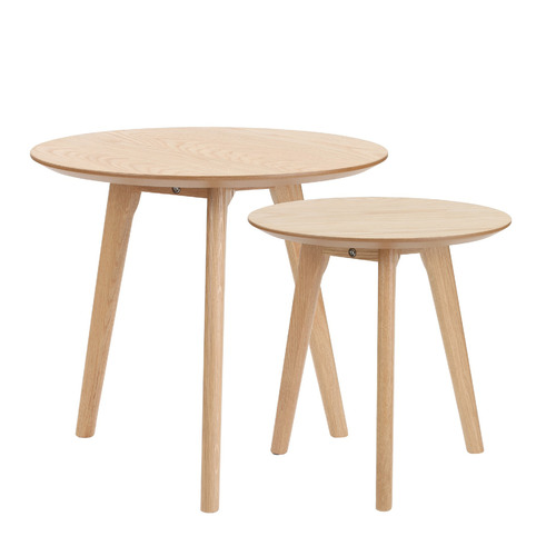 2 Piece Lund Wooden Nesting Tables