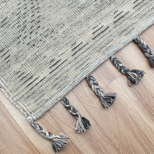 Temple & Webster Grey Billow Hand-Knotted Wool Rug