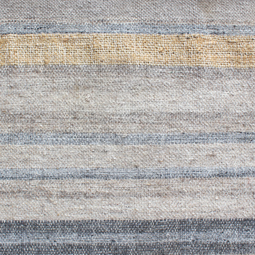 Temple & Webster Natural & Blue Corsica Hand Woven Wool & Viscose Rug