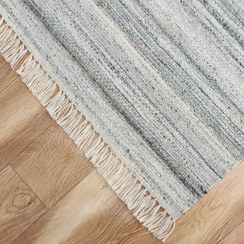 Temple & Webster Grey Glacier Hand-Woven Indoor/Outdoor Rug