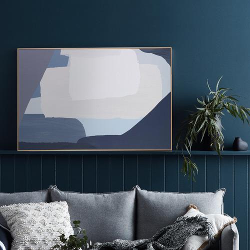 Temple & Webster Blue Noah Framed Canvas Wall Art