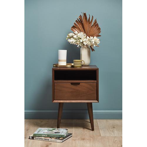 Temple & Webster Walnut Olsen Scandinavian-Style Bedside Table