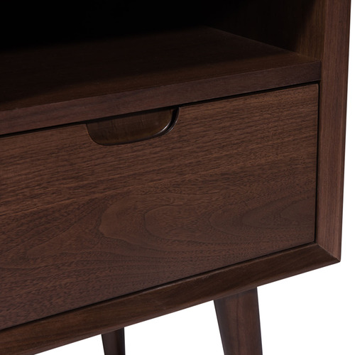 Temple & Webster Walnut Olsen Scandinavian-Style Bedside Table